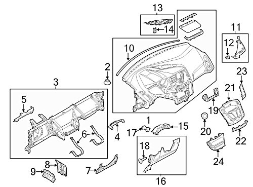 Ford Oem Speaker Cover Dv6z18978ab Image 13
