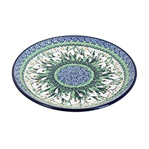 Blue Rose Polish Pottery Snowdrop Dinner Plate