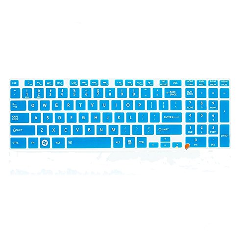 Leze - Ultra Thin Silicone Keyboard Protector Cover Skin for Toshiba Satellite L850/L850D/L855/L855D/L875/L875D/L955/L955D/L50-A/L50D-A/L50t-A/L50Dt-A/L55-A/L55T-A/L55DT-A/L70-A/U50t-A/E55-A/E55D-A/E55DT-A/E55t-A/S855/S855D/S875/S875D/S955/S955D/S50-A/S50t-A/S55T-A/S50D-A/S50Dt-A/S70-A/S70t-A/S75-A/S75D-A/S75t-A/P50-A/P50t-A/P55-A/P55T-A/P70-A/P75-A/P875/Qosmio X875/X70-A/X75-A Series US Layout - Semi Blue