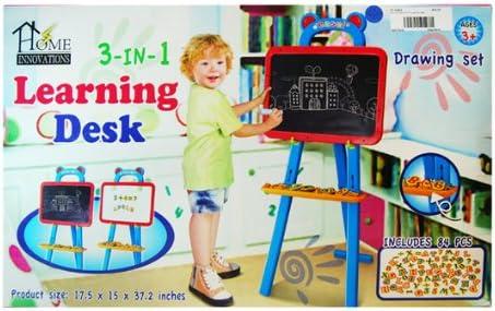 Caballete de aprendizaje educativo 3 en 1 84PCS de doble cara magnética Pizarra Niños