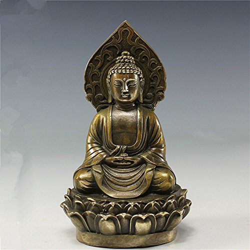 Buddha Copper Statue - SPIE Pure Copper Buddha Statue Furnishing Articles Archaize Do Old Curio Collection Furnishing Articles Handicrafts