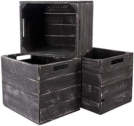Obstkisten-online IKEA Kallax Expedit - Caja de Madera para Frutas, 1,3,4,8 Unidades, diseño Vintage, Color Blanco y Gris: Amazon.es: Juguetes y juegos