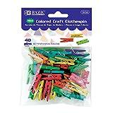 BAZIC Mini Colored Clothes Pin (40/Pack)