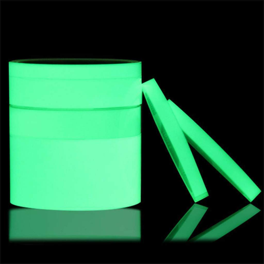 Glow in The Dark Tape - Glow-in-The-Dark Luminous Photoluminescent/Luminescent Emergency Roll Safety Egress Markers Stairs, Walls, Steps, Exit Sign. Glowing Pro Theatre Stage Floor (0.39'' x 9.8ft)
