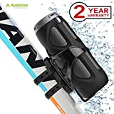 Avantree 10W Powerful Portable Bluetooth Bike Speaker with Bicycle Mount & SD Card Slot, Enhanced Bass & Wireless NFC Pairing, Splash proof, Shockproof & Dustproof for Riding, Outdoor