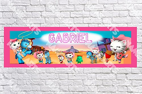 Personalized / Customized Sheriff Callie's Wild West Name Poster with Border Mat- Home Wall Decor Birthday Party Door Banner