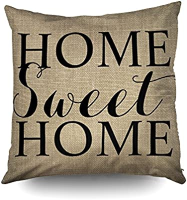 Capsceoll Home Sweet Home - Funda de Almohada Decorativa DE ...