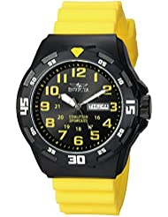 Invicta Mens Coalition Forces Quartz Stainless Steel and Silicone Casual Watch, Color:Yellow (Model: 25328)