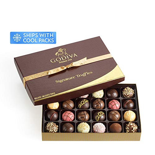 Godiva Chocolatier Classic Signature Chocolate Truffles Gift Box, Chocolate Truffles, Chocolate Gifts, 24 pc