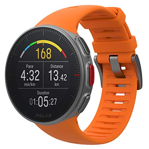 PlayBetter Polar Vantage V Pro (Orange with H10 Heart Rate Sensor) Power Bundle Portable Charger & Screen Protectors | Multisport Watch | GPS & Barometer by PlayBetter (Image #1)