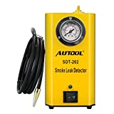 AUTOOL 12V Automotive Fuel Leak Detector Car Pipe Leak Locator Machine Support Pipe Systems/Motorcycle/Cars/SUVs/Boat with Pressure Gauge