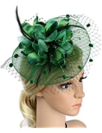 Charming Big Flower Headband Netting Mesh Hair Band Cocktail Hat Party  Girls Women Fascinator e807e9abebe