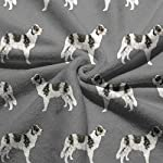 "WELCOMEH Border Collie Blue Merle Dogs Microfiber Towels 27.5"" X 17.5"" Polyester Personality Funny Pattern Super Absorbent for Bathroom,Kitchen,Wash Car,Cleaning Towel 8"