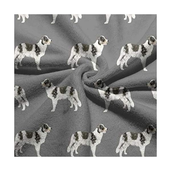 "WELCOMEH Border Collie Blue Merle Dogs Microfiber Towels 27.5"" X 17.5"" Polyester Personality Funny Pattern Super Absorbent for Bathroom,Kitchen,Wash Car,Cleaning Towel 4"