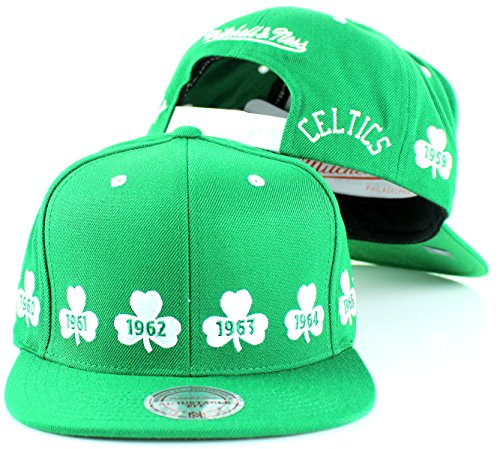 Boston Celtics Mitchell & Ness 1959-1966 NBA Champions Snapback (Boston Celtics Nba Championships)