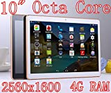 10 inch Octa Core White Tablet PC HD 2560X1600 IPS Display 4GB Ram 64GB Rom WifiI Gps 3G Call Dual sim card Dual Camera Tablets Android5.1 electronics 7 8 9 10.1