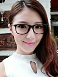Generic The new small fragrant with leather Korean women's fashion glasses frame plain mirror quality small box frames