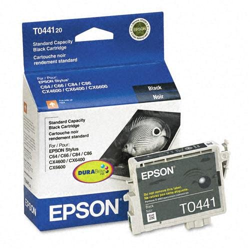 Epson Stylus® C64, C66, C84, C86, CX4600, CX6400, CX6600 DURABrite Black Ink Cartridge, 540 Yield, Part Number T044120 -  Epson Corporation