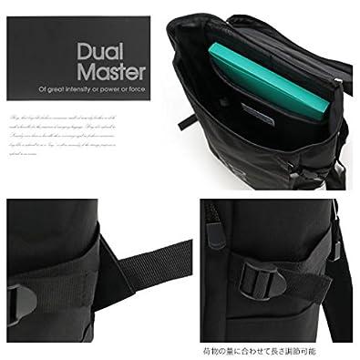 0cafa645aa38 Amazon | (デュアルマスター)Dual Master 薄型スクエアWバックルリュック グレーブラック | タウンリュック・ビジネスリュック