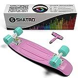Skatro - Mini Cruiser Skateboard. 22x6inch Retro