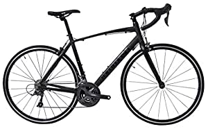 Tommaso Forcella Endurance Aluminum Road Bike, Carbon Fork, Shimano Claris R2000, 24 Speeds, Aero Wheels - Matte Black - Extra Large