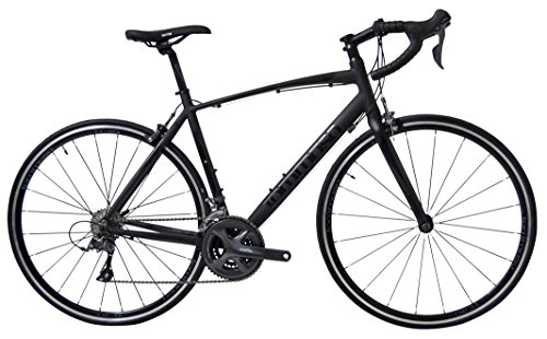 Tommaso Forcella Endurance Aluminum Road Bike, Carbon Fork, Shimano Claris R2000, 24 Speeds, Aero Wheels - Matte Black - Extra Small