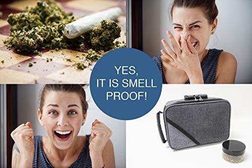 Smell Proof Bags by Hydroflyy - (Secure) Combination Lock and Large Storage Capacity, Keep Your Herb Stash, Jar, Weed, Vapes, Grinder and Rolling Papers in a Safe Place Plus Extra Smell Proof Jar. by Hydroflyy (Image #2)