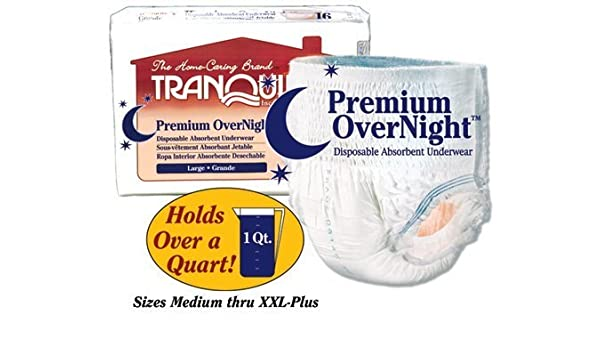 Amazon.com: Tranquility Premium OverNight Disposable Absorbent Underwear Small 22 - 36 [Bag of 20] by PRINCIPLE BUSINESS ENT: Health & Personal Care