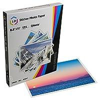 Paquete de papel fotográfico brillante para inyección de tinta LD (8.5X11), paquete de 100