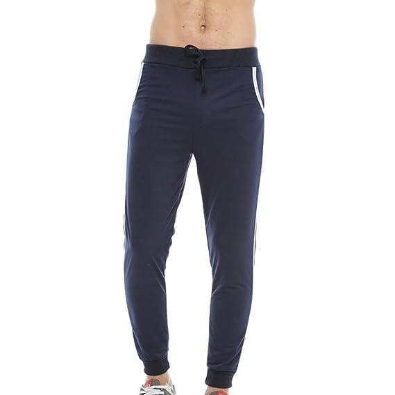 Yying Hombre Pantalones Lápiz Moda Cintura Media Slim Fit Pantalón ...