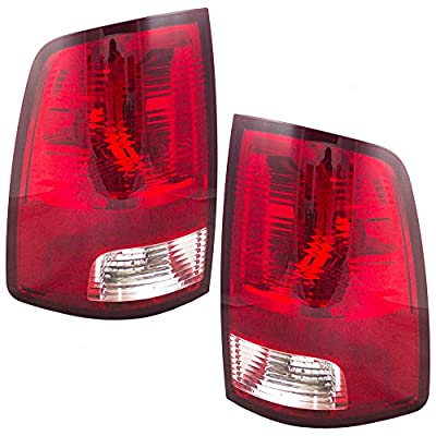 Driver and Passenger Taillights Tail Lamps Replacement for Dodge RAM Pickup Truck 55277415AF 55277414AF