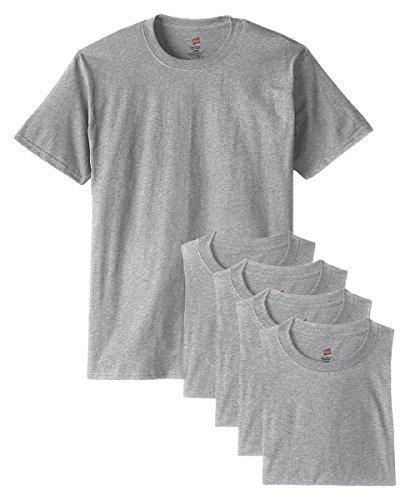 - Hanes mens 5.2 oz. ComfortSoft Cotton T-Shirt(5280)-LIGHT STEEL-XL-5PK