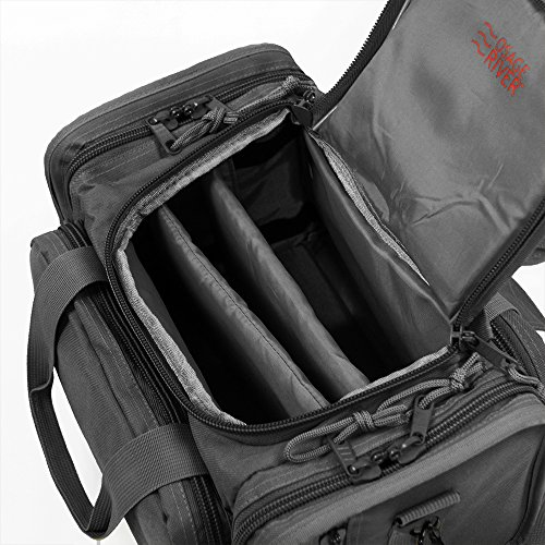 Osage River Tactical Shooting Gun Range Bag (Gunmetal Grey, Light Duty (13.5 x 10.5 x 7.5) Inches) by Osage River (Image #6)