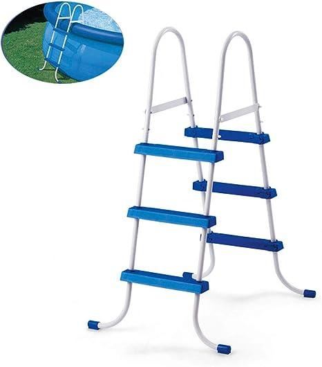 MOOLUNS 3 Pasos Escalera de Piscina Piscina Niño Doble Cara Escalera Mecánica Aleación de Aluminio Equipo,Aplicar para Más Piscina de Tierra, Altura 107Cm / 42,12 Pulgadas: Amazon.es: Deportes y aire libre