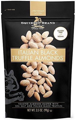 SQUIRREL BRAND Artisan Nuts, Italian Black Truffle Almonds, 3.5 oz (Pack of 6)
