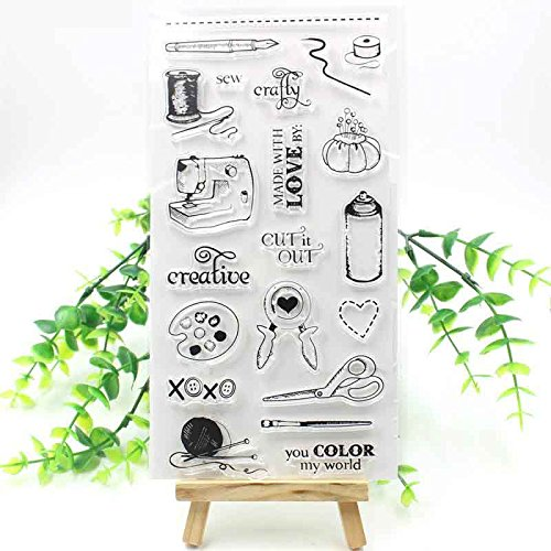 BarFeer Sew Life Transparent Clear Silicone Stamps for DIY Scrapbooking/Card Making/Decorative sheets by BarFeer