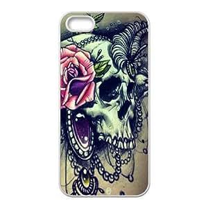 J-LV-F Diy Sugar Skull Selling Hard Back Case for Iphone 5 5g 5s