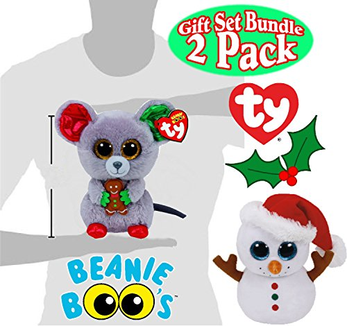 Mac Christmas Gift Sets: TY Beanie Boos Scoop (Snowman) & Mac (Mouse) Holiday