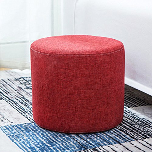 yazi Red Ottoman Cylinders Foot Rest Stool Seat Bench Footrest Seat 10'' by 11''(HxD)