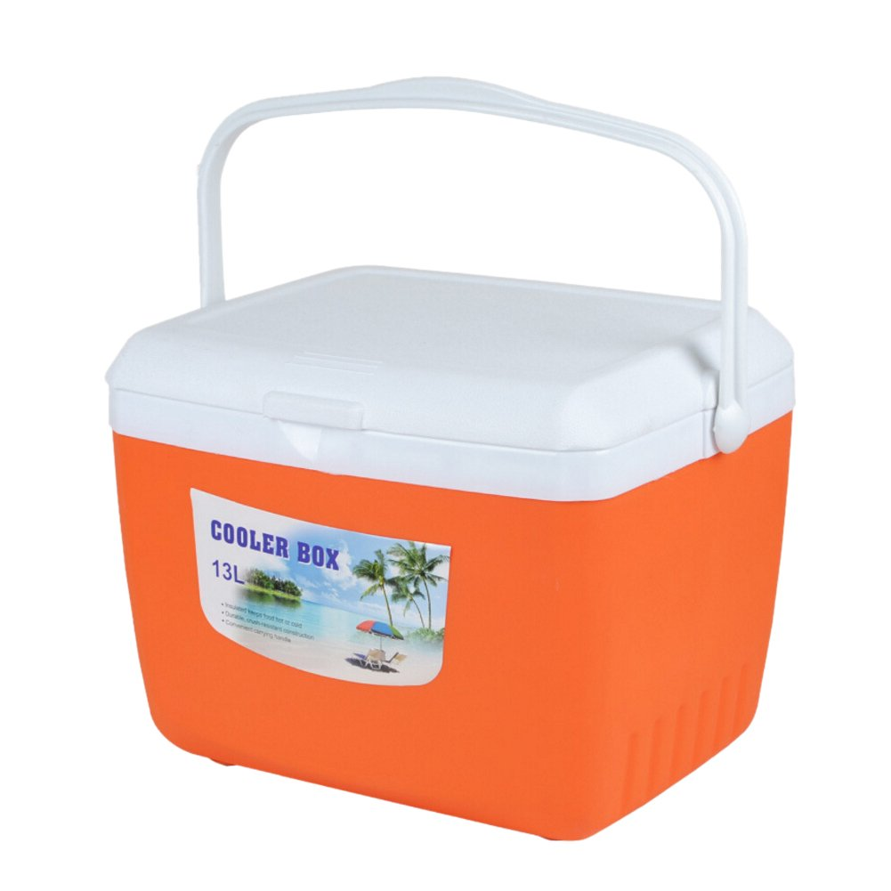 Prokth® - Nevera de coche con asa, 13 L, organizador de aislamiento portátil para camping, con larga duración de tiempo frío y conservación del calor para alimentos, bebidas, almuerzo, picnics, barbacoa, pesca.