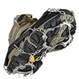 Uelfbaby Crampons Ice Snow Grips Traction Cleats System Safe Protect for Walking, Jogging, or Hiking on Snow and Ice