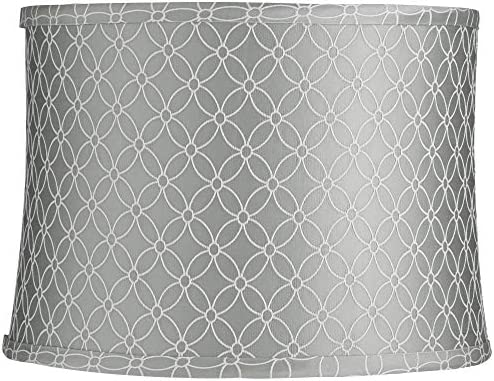 an Qing Gray Drum Lamp Shade 13x14x10 Spider – Springcrest
