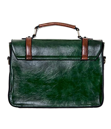 Bow Satchel Banned Bag with Apparel Green Retro Faux Buckle Shoulder Leather Vintage wW4wTt1Bqx
