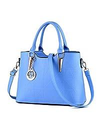 Micom Gold Metal Pendant Pu Leather Tote Bags Shoulder Handbags for Women  234f44e8edb4b