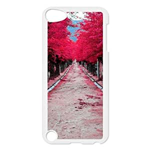 Pink Tree Beside Road Unique Design Cover Case with Hard Shell Protection for Ipod Touch 5 Case lxa855508