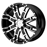Helo HE835 Gloss Black Machined Wheel - (18x9''/6x5.5'')