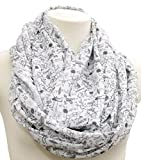Science infinity Scarf birthday gift idea for her anniversary gift chemistry biology scientist black white