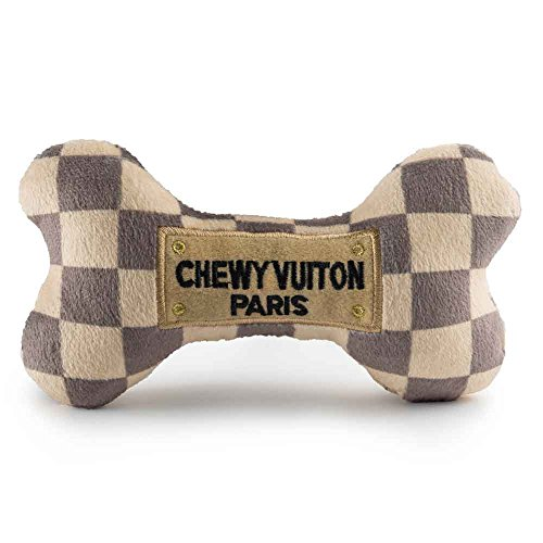 Haute Diggity Dog HDD-008-SM Checker Chewy Vuitton Bone, Small - Diggity Dog Toy