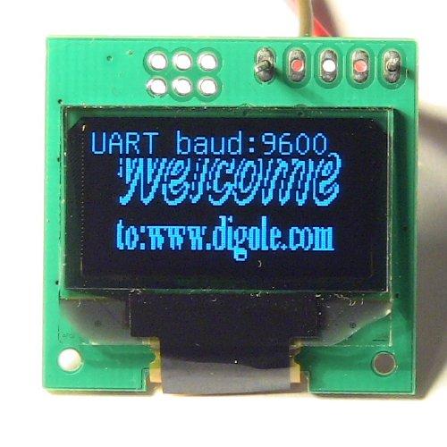 0.96 Serial: UART/I2C/SPI 128x64 OLED Module Blue CN (DS12864OLED-2B)