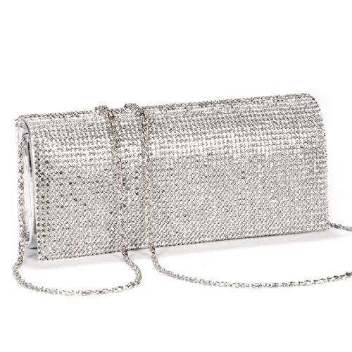 Luxus glitzer Damen Clutch Damentasche Abendtasche Party Hochzeit Handtasche Brauttasche mit Strass PU/Satin